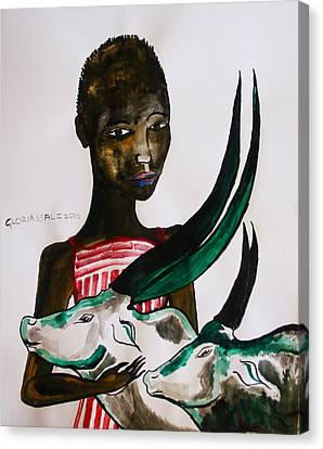Dinka Bride Canvas Print - Shilluk Bride - South Sudan by Gloria Ssali