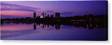 Arkansas River Canvas Print - Silhouette Of Buildings by Panoramic Images