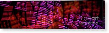 Singapore Night Urban City Light - Series - Your Singapore Canvas Print by Urft Valley Art