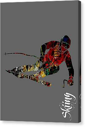 Skiing Collection Canvas Print by Marvin Blaine