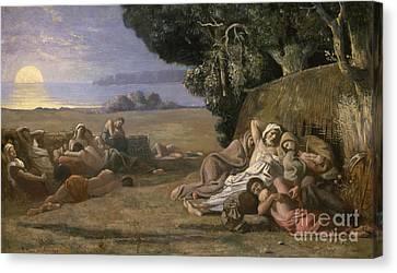 Sleep Canvas Print by Pierre Puvis de Chavannes