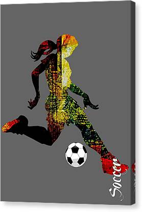 Soccer Collection Canvas Print by Marvin Blaine