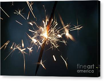 Pyrotechnic Canvas Print - Sparkler by Kati Finell