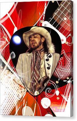 Stevie Ray Vaughan Art Canvas Print by Marvin Blaine