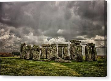Amesbury Canvas Print - Stonehenge by Martin Newman
