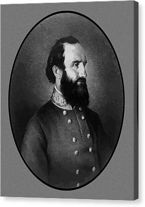 Stonewall Jackson Canvas Print by War Is Hell Store
