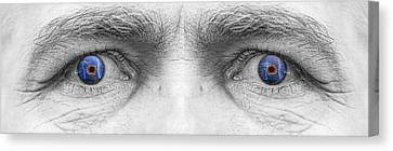 Stormy Angry Eyes Canvas Print by James BO  Insogna