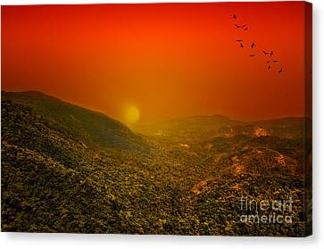 Sunset Canvas Print by Charuhas Images