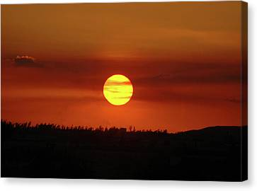 Canvas Print featuring the photograph 4- Sunset by Joseph Keane