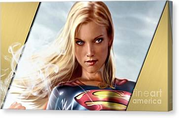 Supergirl Collection Canvas Print