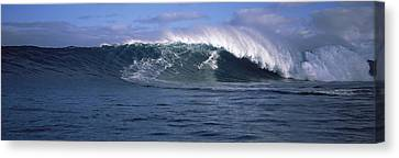 Surfer In The Sea, Maui, Hawaii, Usa Canvas Print by Panoramic Images