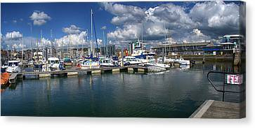 Sutton Harbour Plymouth Canvas Print by Chris Day