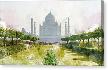 Taj Mahal In India Canvas Print by Brandon Bourdages