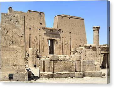 Temple Of Edfu - Egypt Canvas Print by Joana Kruse