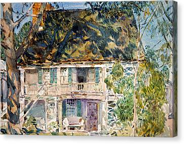 The Brush House Canvas Print by Childe Hassam