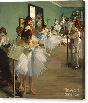 Ballet Dancers Canvas Print - The Dance Class by Edgar Degas