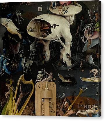The Garden Of Earthly Delights Canvas Print by Hieronymus Bosch