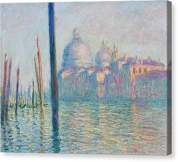 The Grand Canal  Canvas Print by Claude Monet