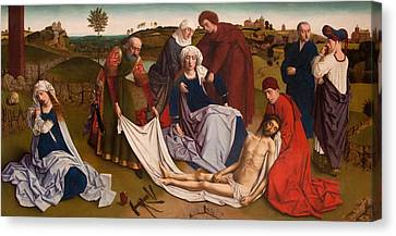 The Lamentation Canvas Print by Petrus Christus