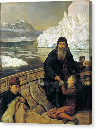 Collier Canvas Print - The Last Voyage Of Henry Hudson by John Collier