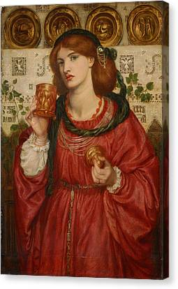 The Loving Cup Canvas Print by Dante Gabriel Rossetti