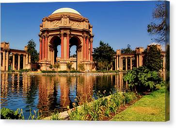 The Palace Of Fine Arts Canvas Print