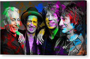 The Rolling Stones Canvas Print by Marvin Blaine