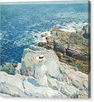 The South Ledges, Appledore Canvas Print by Childe Hassam