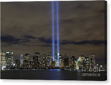 The Tribute In Light Memorial Canvas Print by Stocktrek Images