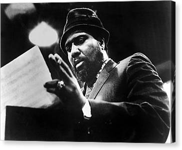 1960s Fashion Canvas Print - Thelonius Monk 1917-1982jazz Pianist by Everett