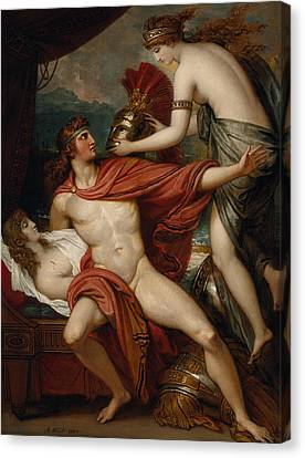 Thetis Bringing The Armor To Achilles Canvas Print