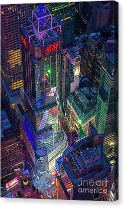 4 Times Square Canvas Print by Inge Johnsson