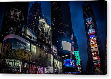 Times Square Nyc Canvas Print by Martin Newman