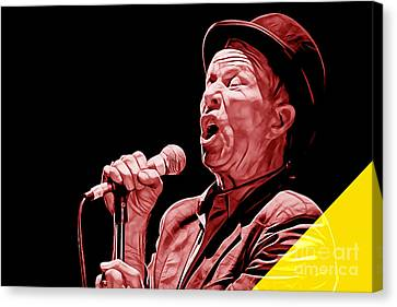 Tom Waits Collection Canvas Print by Marvin Blaine