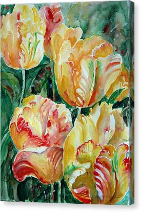 Tulips Canvas Print by Alexandra Maria Ethlyn Cheshire