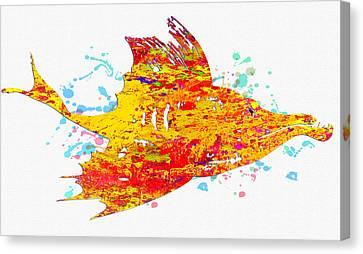 Starfish Canvas Print - Underwater.fish. by Elena Kosvincheva