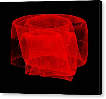 Canvas Print featuring the digital art Untitled by Robert Krawczyk
