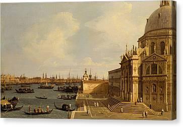 Italian Landscape Canvas Print - Venice - Santa Maria Della Salute by Canaletto