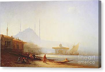 View Of Istanbul Canvas Print by Felix Ziem