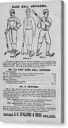 Vintage Baseball Canvas Print by Vintage Pix