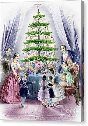Vintage Christmas Card Canvas Print by English School