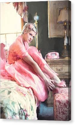 Vintage Val Bedroom Dreams Canvas Print
