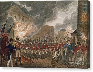 Washington Burning, 1814 Canvas Print by Granger