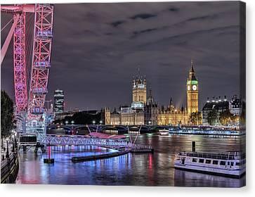 Westminster - London Canvas Print by Joana Kruse