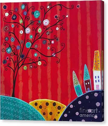Whimsical Town Canvas Print