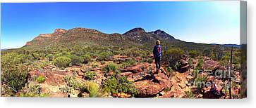 Canvas Print featuring the photograph Wilpena Pound by Bill Robinson