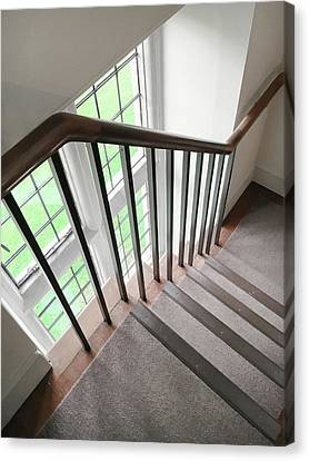 Wooden Bannister Canvas Print by Tom Gowanlock