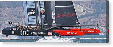 Oracle America's Cup Canvas Print by Steven Lapkin