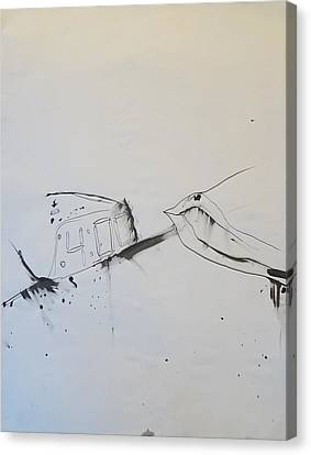 4 00 Am Canvas Print
