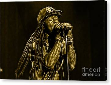Lil Wayne Art Canvas Print - Lil Wayne Collection by Marvin Blaine